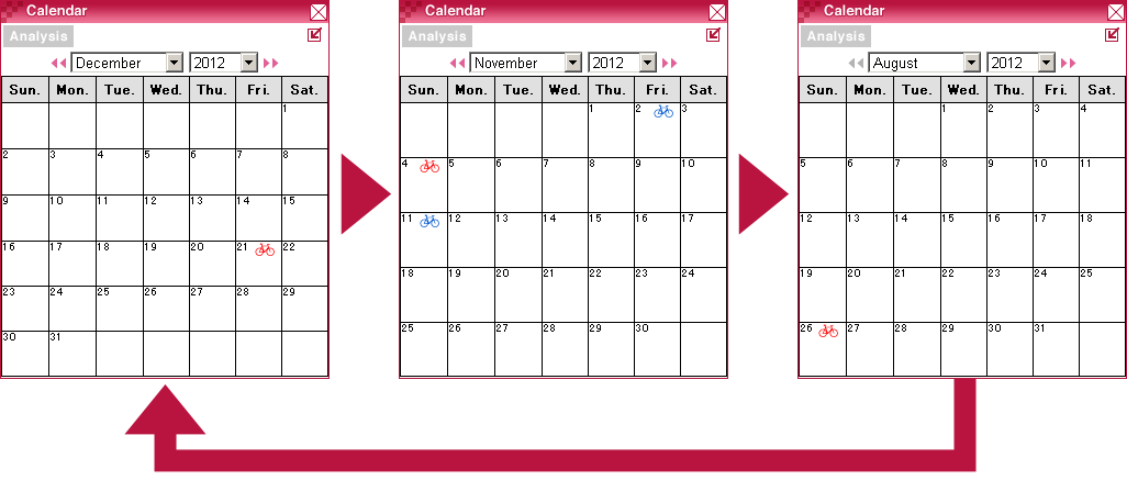calendar window (next)
